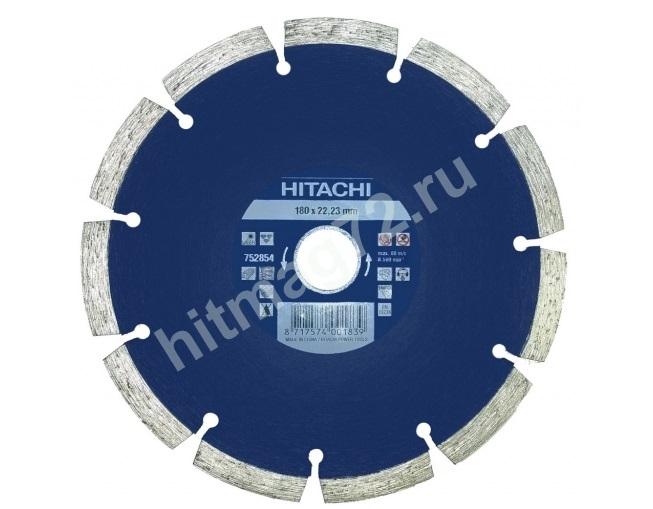 Алмазный диск Hitachi 180х22.2х10 Concrete Laser (Бетон, кирпич, железобетон, известняк)