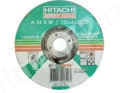 Круг зачистной металл 150Х6Х 22  А24 HITACHI (Россия)