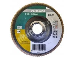 Круг Hikoki лепестковый торцевой КЛТ 125Х22.23  Р60 - Голландия