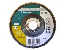 Круг Hikoki лепестковый торцевой КЛТ 125Х22.23, Р80 - Голландия
