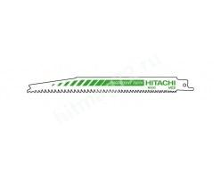 Пилки Hitachi для сабельной пилы. Для твёрдых пород древесины, ДСП, пластик (Швейцария) 5 шт.