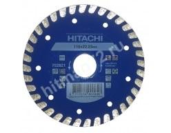 Алмазный диск Hitachi 115х22,2х6 TYPE TURBO FLAT (Гранит, мрамор, керамическая плитка, бетон)
