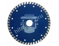 Алмазный диск Hitachi 150х22.2х6 Turbo Flat (Гранит, мрамор, керамическая плитка, бетон)