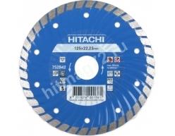 Алмазный диск Hitachi 125х22.2х6 Turbo (Гранит,мрамор.природный камень,бетон)-Япония