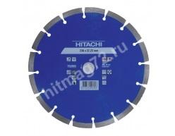 Алмазный диск Hitachi 230х22.2х10 Concrete Laser (Бетон, Кирпич, Гранит, Мрамор, Железобетон)