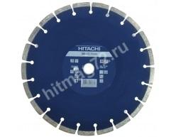 Алмазный диск Hitachi 300x22.2x10 Concrete Laser (Бетон,Кирпич,Асфальт)