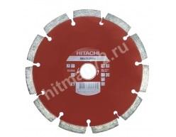 Алмазный диск Hitachi 180х22.2х10 Abrasive Laser (Кирпич, известняк, асфальт, бетон)