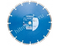 Алмазный диск Hitachi (Гранит,Мрамор,Бетон,Кирпич)  Ø 300X20(25,4)Х10 (Премиум)
