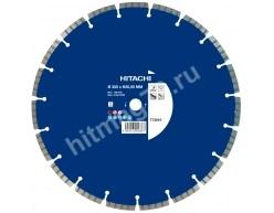 Алмазный диск Hitachi (Гранит,Мрамор,Бетон,Железобетон,Кирпич)  Ø 350X20(25,4)Х10 (Премиум)