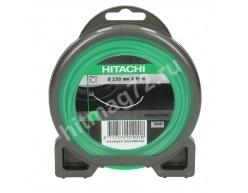 Леска Hitachi для триммеров, 2мм, квадратное сечение, диам. 2мм, зеленая, длина 15 м (Франция)