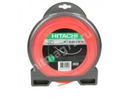 Леска Hitachi для триммера квадратная 2,4 мм ORANGE L=34 м (226гр.)-Франция